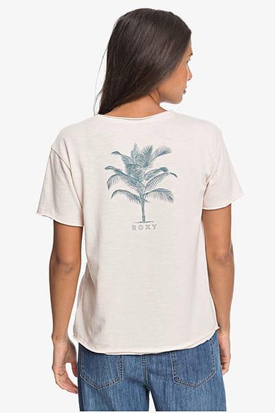 Прозрачный женская футболка с карманом roxy star solar