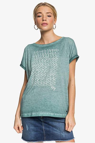 Персиковый женская футболка roxy summertime happiness