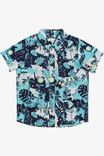 Мультиколор детская рубашка с коротким рукавом jungle weekend