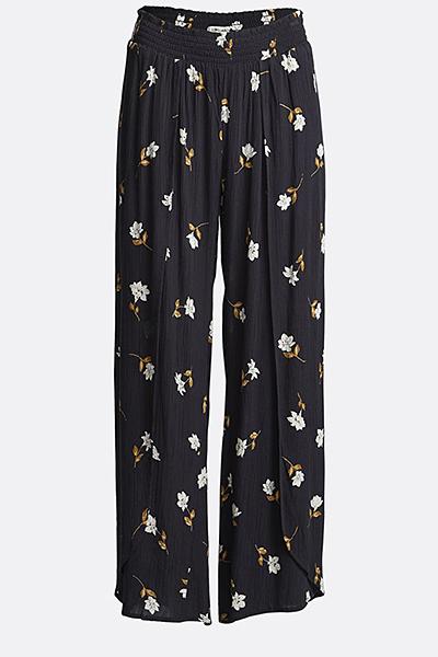 Жен./Одежда/Джинсы и брюки/Широкие брюки Брюки с цветочным принтом Wandering Soul