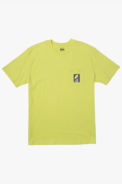 Желтый футболка monolith