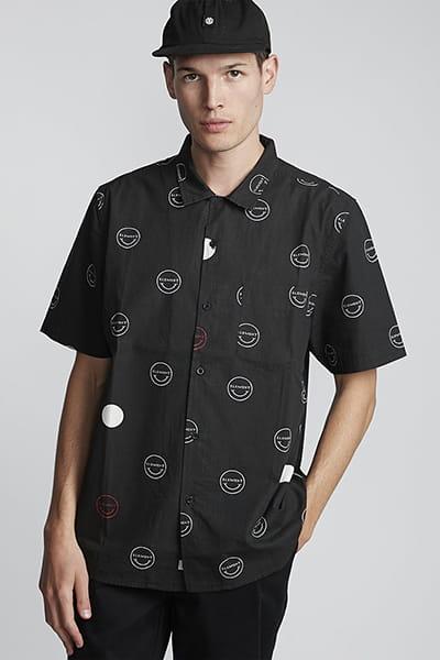Черный рубашка polka smile