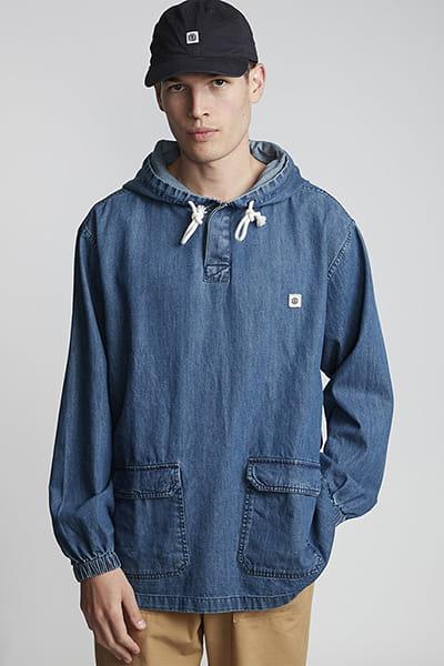 Серый мужская джинсовая кофта russel denim