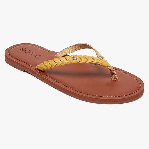 Золотые женские сандалии roxy livia