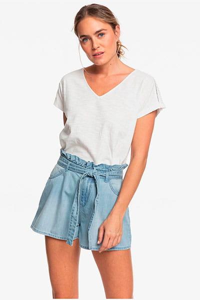 Прозрачные женские джинсовые шорты с высокой талией salento playa