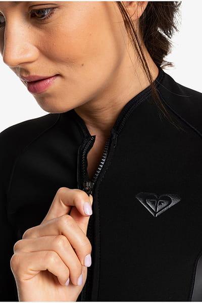 Жен./Одежда/Гидрокостюмы/Гидрокостюмы Женский гидрокостюм с длинными рукавами и молнией на груди 1.5mm Satin