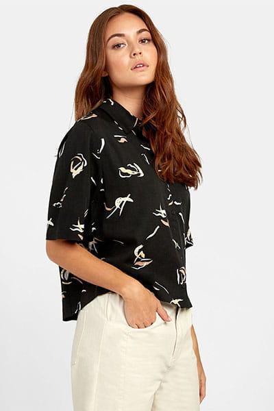 Жен./Одежда/Рубашки/Рубашки с коротким рукавом Рубашка Foreign