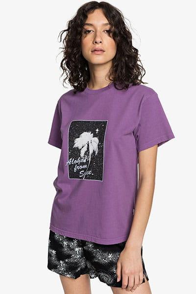 Бирюзовый женская укороченная футболка womens
