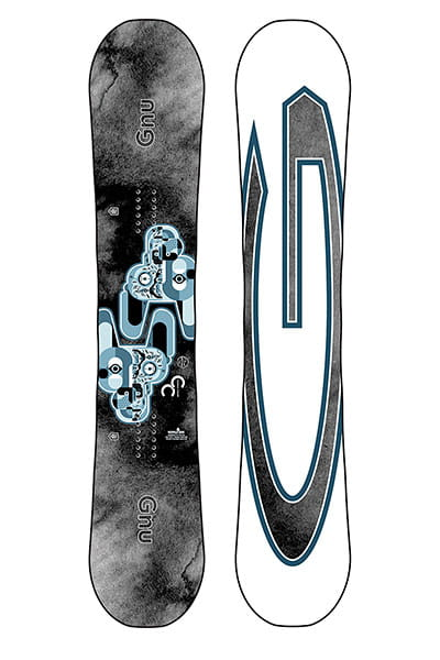 Голубой мужской сноуборд carbon credit