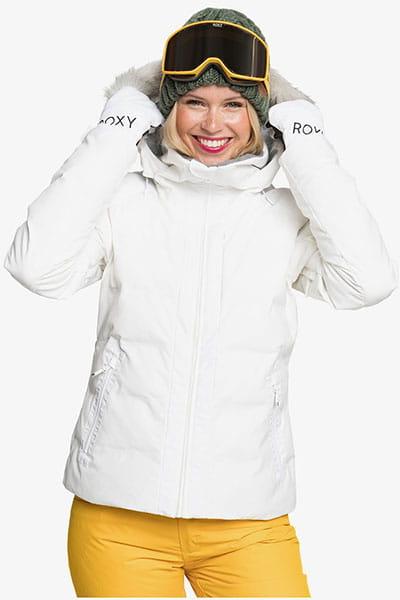 Белый женская сноубордическая куртка clouded