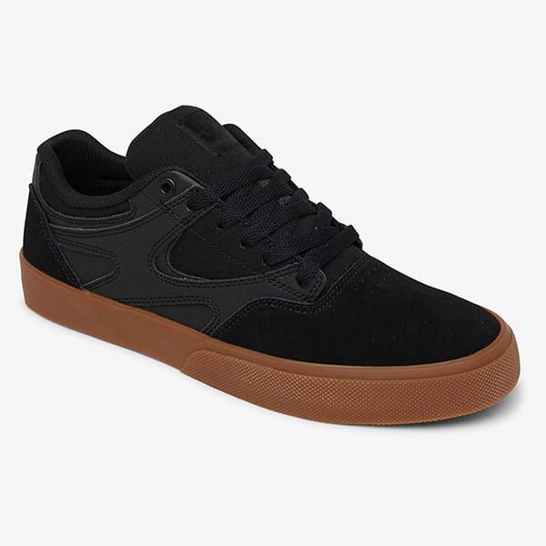 Черные кожаные кроссовки kalis vulc