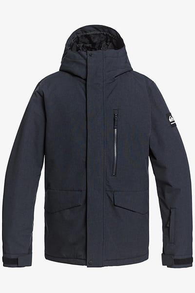 Оранжевый мужская сноубордическая куртка mission solid