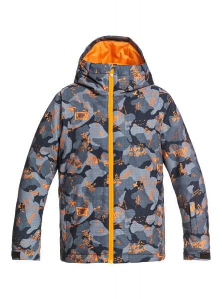 Голубой детская сноубордическая куртка mission printed 8-16