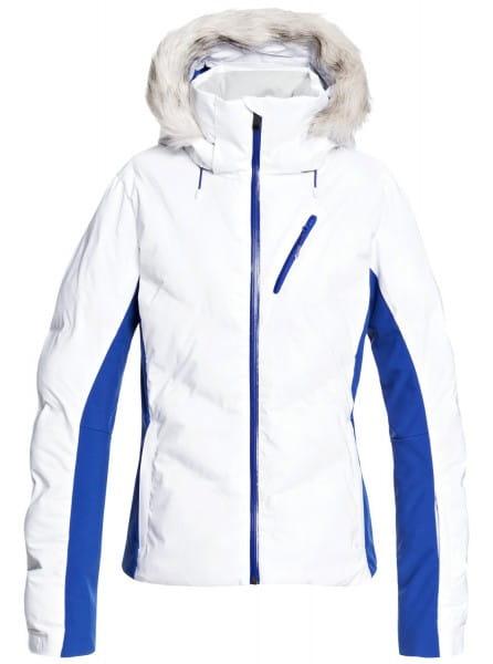 Белый женская сноубордическая куртка snowstorm