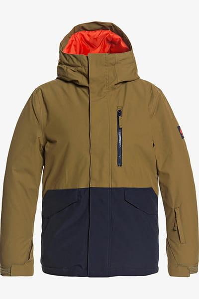 Желтый детская сноубордическая куртка mission solid 8-16