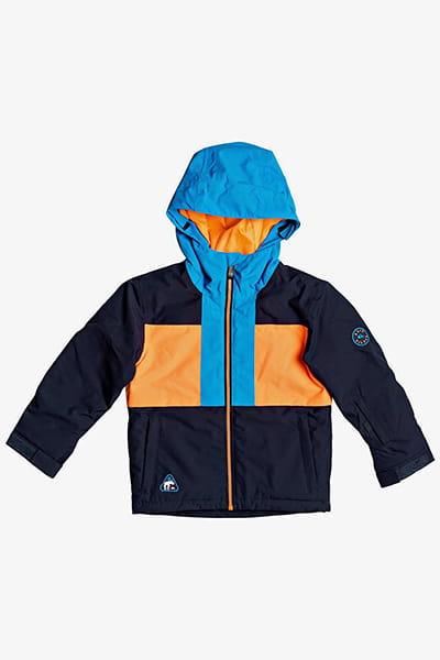 Оранжевый детская сноубордическая куртка groomer 2-7