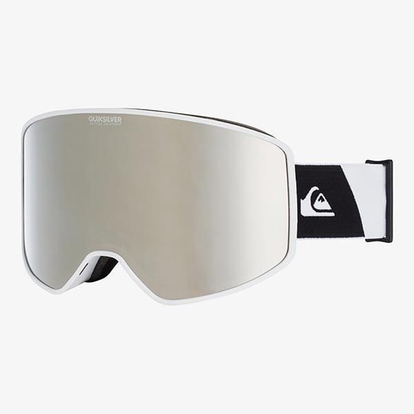 Белый сноубордическая маска storm