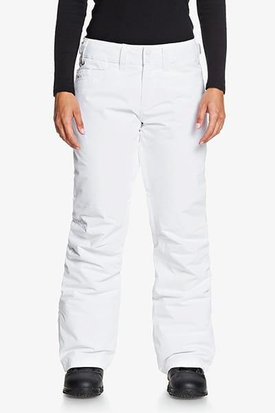 Белый женские сноубордические штаны backyard