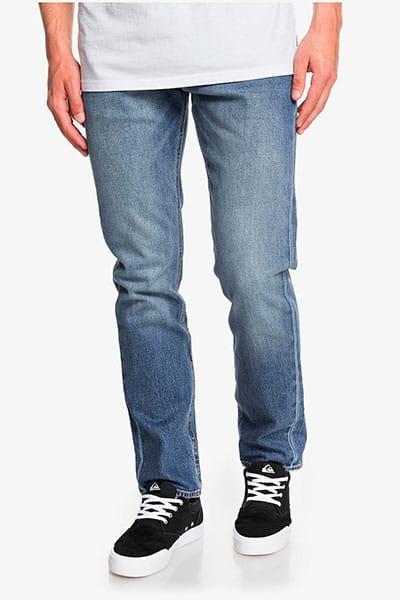 Зеленые мужские прямые джинсы revolver medium blue