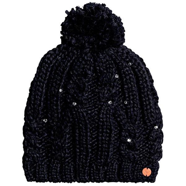 Бордовые женская шапка с помпоном shooting star