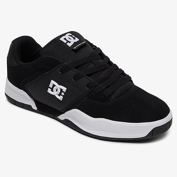 Черные мужские кожаные кроссовки central