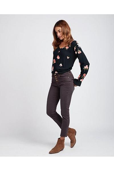 Жен./Одежда/Джинсы и брюки/Зауженные джинсы Женские джинсы с высокой талией Shore Line