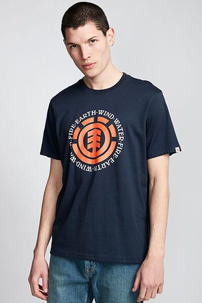 Синий мужская футболка с короткими рукавами seal