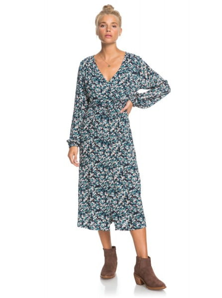 Персиковый женское платье с длинным рукавом about you now