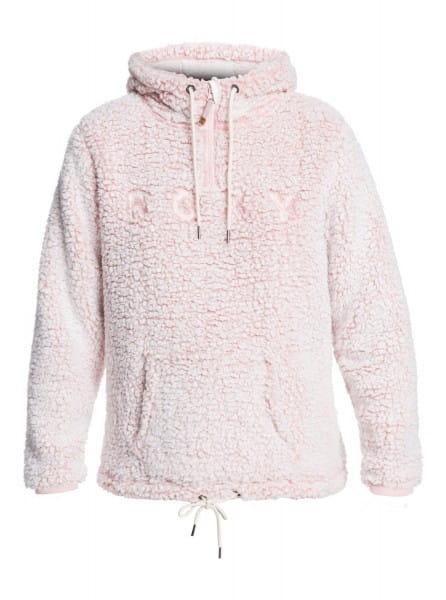 Розовый женское флисовое худи pluma sherpa
