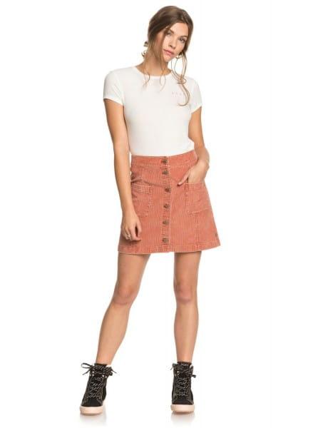 Жен./Одежда/Юбки/Юбки Женская вельветовая юбка на пуговицах Warning Sign