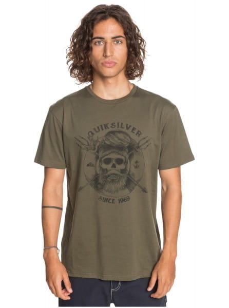 Зеленый мужская футболка no angel
