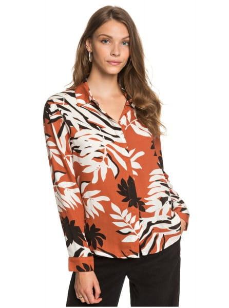 Бордовый женская рубашка с длинным рукавом white shadow