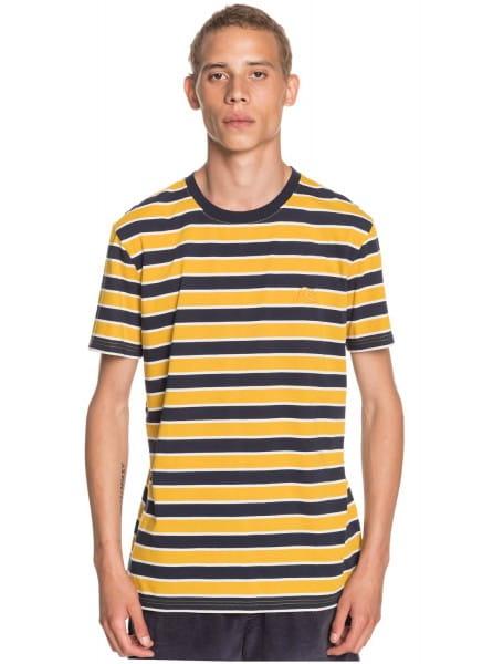 Желтый мужская футболка coreky
