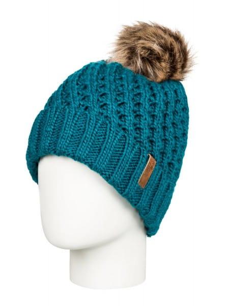 Коричневые детская шапка с помпоном blizzard