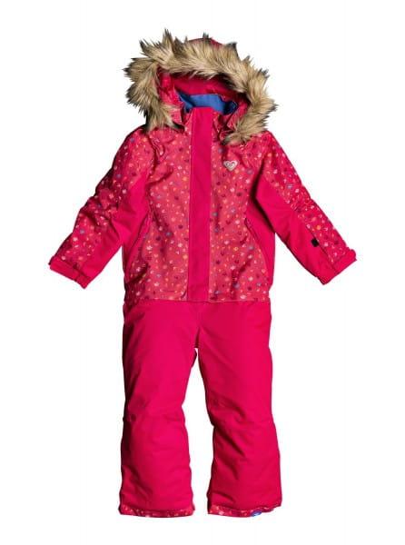Розовый детский сноубордический комбинезон paradise 2-7