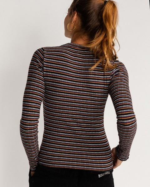 Жен./Одежда/Футболки, поло и лонгсливы/Лонгсливы Женский топ с высоким воротом Seventies Stripes