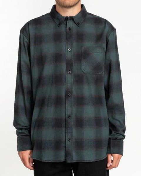 Серый мужская рубашка с длинным рукавом lumber