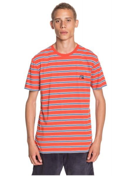 Коричневый мужская футболка coreky