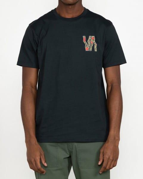 Черный мужская футболка va vapor