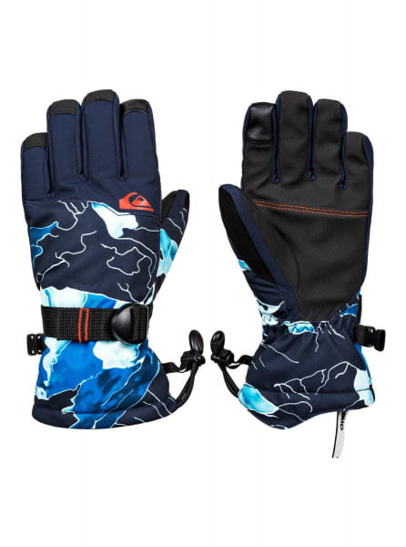 Коричневые детские сноубордические перчатки mission 8-16