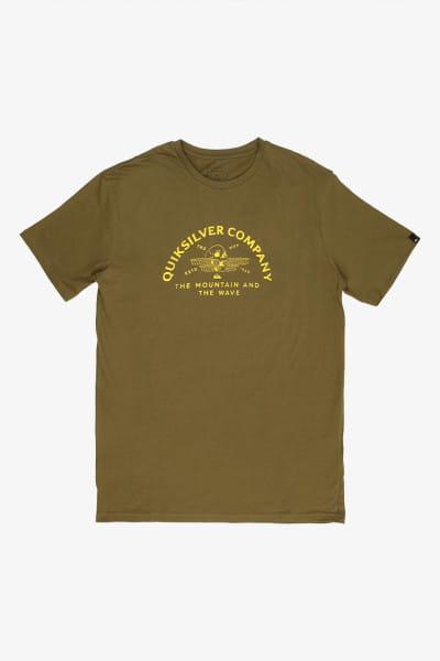 Зеленый мужская футболка wave remains