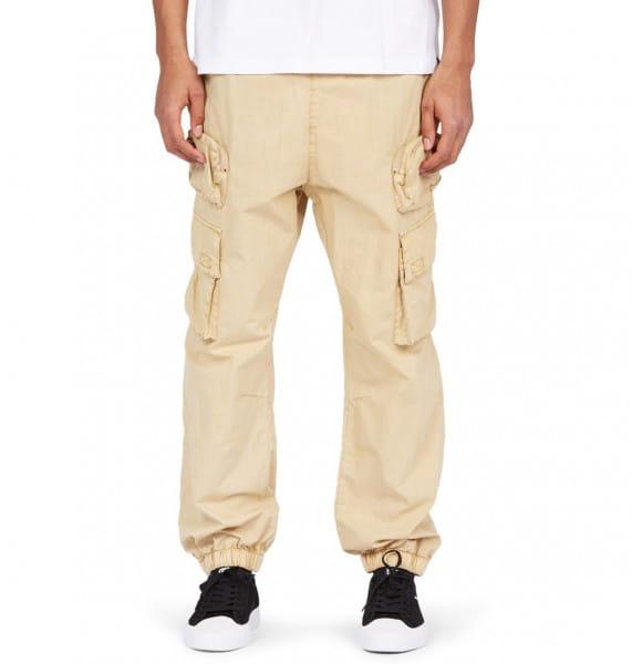 Бежевый мужские брюки-карго holdall