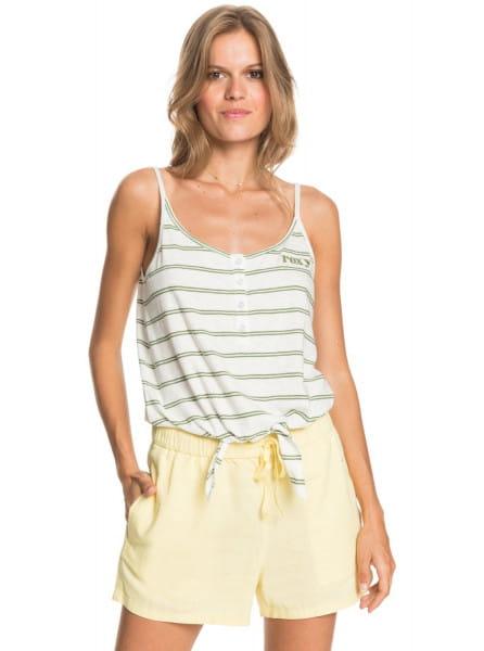 Желтый женские пляжные шорты love square