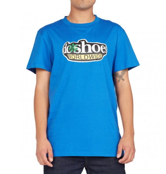 Голубой мужская футболка fisheye worldwide