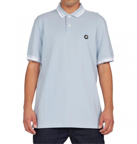 Голубой мужская рубашка-поло stoonbrooke