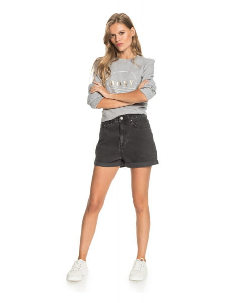Жен./Одежда/Шорты/Джинсовые шорты Женские джинсовые шорты-мом Here Its Me Black