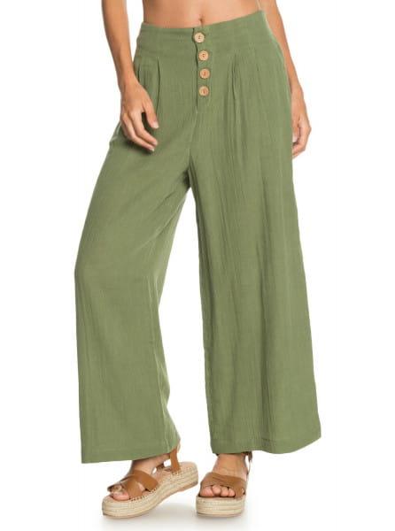Зеленый женские брюки с высокой талией dream story