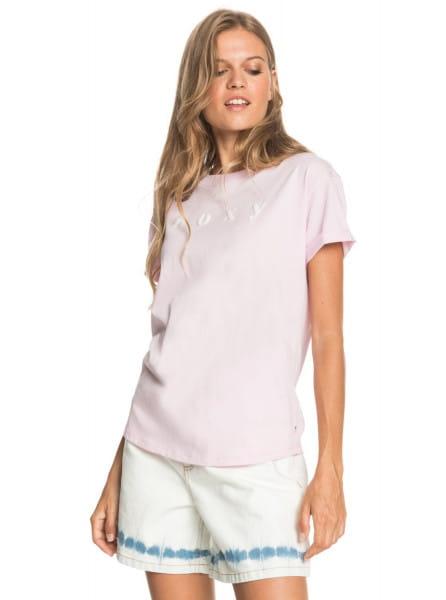Розовый женская футболка epic afternoon word a