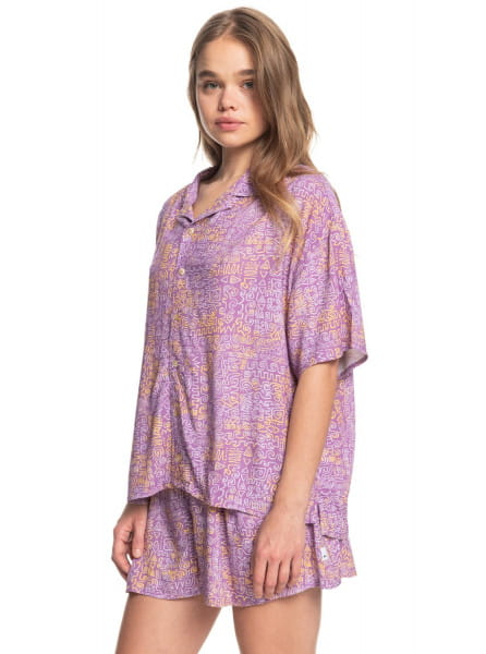 Жен./Одежда/Блузы и рубашки/Рубашки с коротким рукавом Женская рубашка с коротким рукавом Sunny Ride