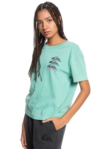 Бирюзовый женская футболка colorful land